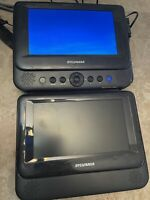 "Sylvania SDVD8738 7"" Dual-Screen DVD Players.  Tested (No Cords )"