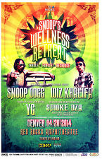 SNOOP DOGG & WIZ KHALIFA Cannabis Cup 4-20 Red Rocks 11x17 Show Flyer / Poster