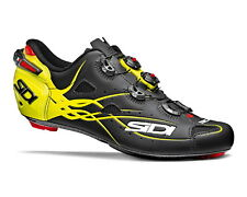 SIDI SHOT Road Cycling Shoes - Matt Black/Yellow Fluo [Size: 40~47 EUR]