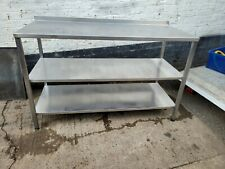 More details for commercial catering fully welded stainless steel kitchen table 140 long...