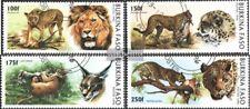 Burkina Faso 1437-1440 (compl.edición) usado 1996 Big Cats
