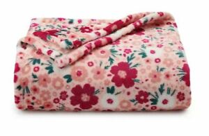NEW Graphic Flowers Throw Blanket Oversize Super Soft 60x72 HOLIDAY GIFT