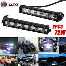 "Pair 7""INCH LED Light Bar Spot Flood Driving Fog 4WD 12V Car Truck Off-Road ATV"