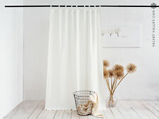 Linen antique white curtain ( 1 panel) - heavier weight off white drape