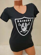 0914 Womens Ladies Nfl Apparel Oakland Raiders V-Neck Football Jersey Black New