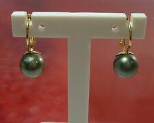 585 / 14k Oro Sintético perlas pendientes pendientes 2 , 65gr ORO AMARILLO