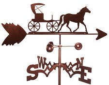 Horse Buggy Carriage Weathervane (Roof Mounting Included)