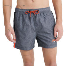 Superdry Herren Beach Volley Swim Short Schwimmhose Shorts M3010007A schwarz