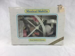 Vintage Eden Peter Rabbit & Friends Musical Mobile Soft Plush NEW OLD STOCK atls