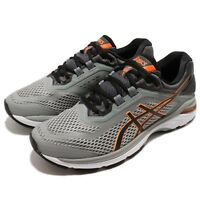Asics GT-2000 6 Grey Black Orange White Men Running Shoes Sneakers T805-N020