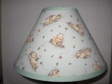 Classic Winnie the Pooh Green Fabric Nursery Lamp Shade