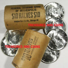 BU 1964 KENNEDY HALF DOLLARS-UNOPENED BANK ROLLS -ESTATE COINS HOARD TREASURE