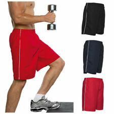 Polyester Patternless Sports Shorts for Men