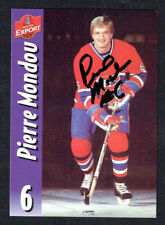 Pierre Mondou #6 signed autograph auto Molson Export Hockey Trading Card