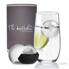 Crystal Highball Glass & XL Ice Ball Mould Gift - Hi Ball G&T, Vodka on the rock