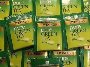 Twinings Pure Green Tea - individually enveloped tea bags - FREE P&P