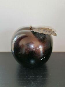 Vintage Golden/Brown Metal Alloy Apple Ornament Decoration Gift