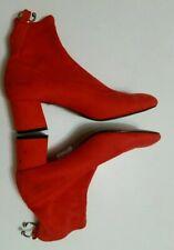 topshop womens sock boots size 7 40 ladies block chunky heel blossom orange chic