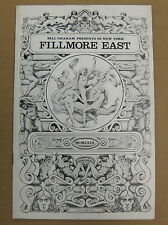 The WHO Tommy 1969 Fillmore East CONCERT PROGRAM Townshend Daltrey Entwistle