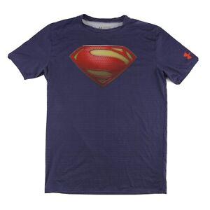 Superman Man of Steel Under Armour Heat Gear Compression Shirt Men's XXL