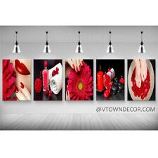 Beautiful Art Canvas for Nail Salon Wall Mural Salon Gerbera Set of 5 24''x24''