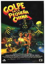 BIG TROUBLE IN LITTLE CHINA Movie POSTER 27x40 Spanish Kurt Russell Suzee Pai