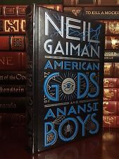 American Gods & Anansi Boys by Neil Gaiman New Sealed Leather Bound Collectible