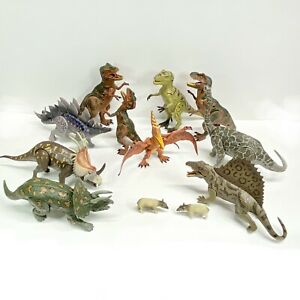 Lot Of 12 Dino Valley Chap Mei Toys R Us Dinosaurs T-Rex Triceratops Stegosaurus