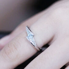 S925 Sterling Silver Open Ring Lady Function Adjustable Hollow Diamond Gift
