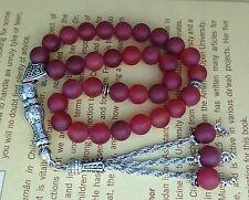 Matt Agate stone prayer beads / worry beads / Tasbeeh / Tasbih /Masbaha / Rosary