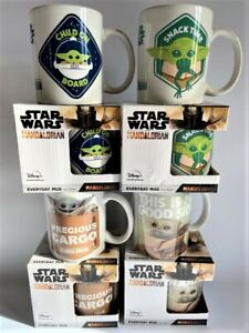 STAR WARS MANDALORIAN CERAMIC MUGS - 4 TO CHOOSE FROM - BOXED - NEW - LICENCED