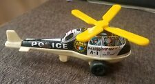 Vintage A-1 Police Patrol black & white tin plastic helicopter by ND Toys Japan