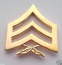 US MARINE CORP RANK E5  SGT GOLD Military Veteran Rank Pin 14886 HO