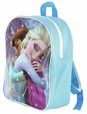 NUOVO Ufficiale Disney Frozen Anna Elsa Principessa Junior Zaino Bambina Scuola Borsa