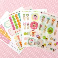 6 sheet Sonny Angel Doll diary notebook calendar stationery books study stickers