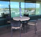 Garden Furniture Table, Chairs, Umbrella. 5 Pieces, Msrp $1600.00