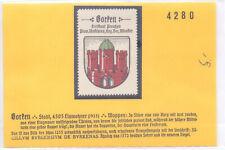 Reklamemarke Wappen von Borken/Nordrhein-Westfalen um 1925 (A2111)