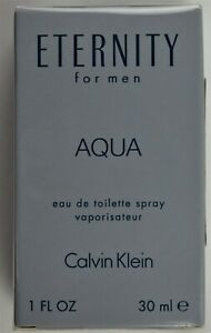 Eternity AQUA For Men By Calvin Klein Spray 1 fl.oz.