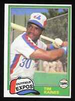 1981 Topps Traded Tim Raines #816 Rookie Card RC Montreal Expos HOF Pack Fresh