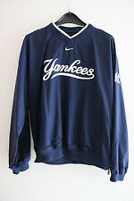 Nike New York Yankees Windbreaker Jacket NY V-Neck Dark Blue/Grey/White Size M