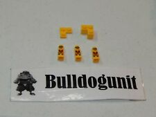 2009 Minotaurus Lego Board Game 3 Yellow Microfigures & Base Color Areas Only