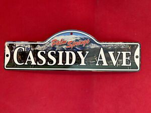 CASSIDY AVE -   Street Sign (Laminated Plastic)  PALM SPRINGS CA