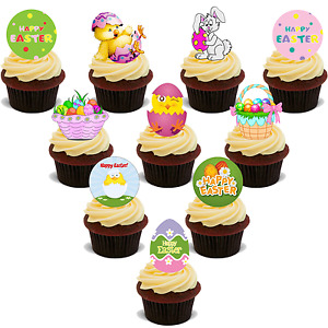 12 PRECUT Easter Bunny Tail Edible wafer//rice paper cake//cupcake toppers