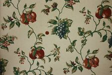 "Lot of 6 27"" wide Double Roll Prepasted Washable wallpaper ~ Grape vines, Fruit"