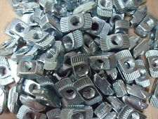 100 x Nutensteine Hammermuttern für Aluprofile, Nut 10mm, M6 H1,5 VERZINKT