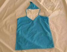 Boy's Shark Hooded Blue Towel Poncho Bath