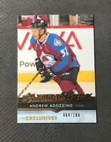 2014-15 UPPER DECK ANDREW AGOZZINO ROOKIE YOUNG GUNS EXCLUSIVES #ed 64/100