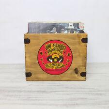 "Jimi Hendrix Record Box Vintage Wooden Album Crate 12"" Retro Vinyl"