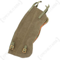Original Belgian Army Gaiters - Army Military Surplus British 37 Canvas Leather