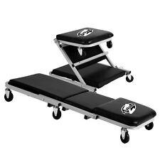 Z Creeper Seat Rolling Mechanics Chair Garage Stool Shop Tool Tray Padded Ri...